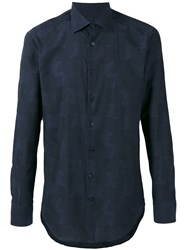 Etro Paisley Print Long Sleeve Shirt Blue