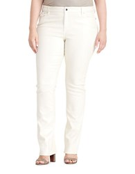 Lauren Ralph Lauren Plus Coated Straight Jeans Pearl