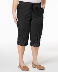 Style And Co Plus Size Skimmer Shorts Ony At Macy's Deep Black