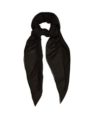 Givenchy Rotweiller Print Cashmere Blend Scarf Black Multi