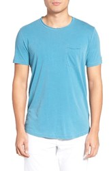 Velvet By Graham And Spencer Men's Raw Edge Pocket T Shirt Malibu