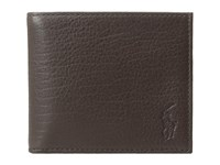 Polo Ralph Lauren Pebble Leather Billfold Brown Bill Fold Wallet