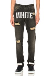 Off White 3D Slim Fit Jeans In Black