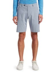 Saks Fifth Avenue Collection Gingham Seersucker Shorts Navy White