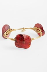 Women's Bourbon And Boweties Small Stone Bracelet Deep Red