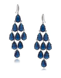 Carolee Kite Chandelier Earrings Blue