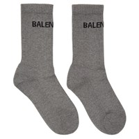 Balenciaga Grey Tennis Socks