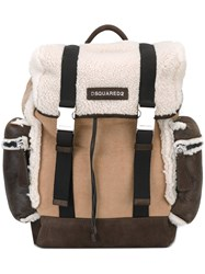Dsquared2 'Donald' Backpack Nude And Neutrals