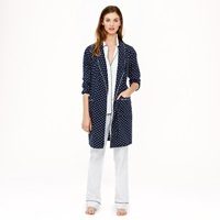 J.Crew Robe In Polka Dot Flannel