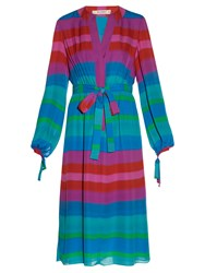 Etro Striped Tie Waist Shirtdress Multi