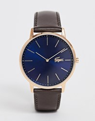 Lacoste Moon Leather Watch Brown