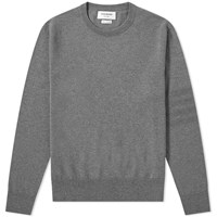 Thom Browne Merino Tonal Four Bar Crew Knit Grey
