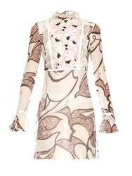 Giambattista Valli Moroccan Flower Printed Silk Organza Dress