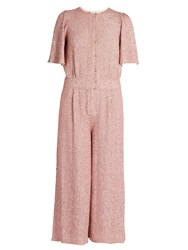 Temperley London Fairyqueen Olina Embellished Jumpsuit Light Pink
