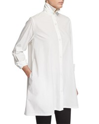 Urban Zen Long Sleeve A Line Blouse W Pockets Salt