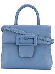Maison Martin Margiela Buckle Detail Tote Women Cotton Goat Skin One Size Blue