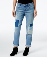Styleandco. Style Co. Petite Curvy Fit Patchwork Disco Wash Boyfriend Jeans Only At Macy's