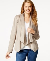 Styleandco. Style And Co. Faux Suede Draped Jacket Only At Macy's