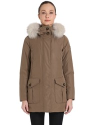 Peuterey Xomo Gb Taffeta Down Parka With Fur Trim