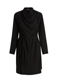 Vivienne Westwood Tondo Cowl Neck Draped Dress Black