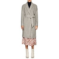 Martin Grant Alpaca Wool Belted Cardigan Coat Light Gray
