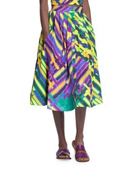 Tracy Reese Printed A Line Skirt