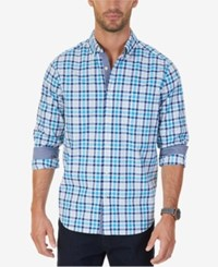 Nautical Men's Bay Plaid Pocket Shirt Bay Blue