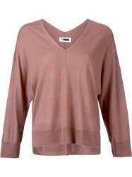 H Beauty And Youth. V Neck Pullover Jumper Brown