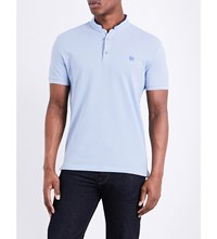 The Kooples Classic Fit Cotton Polo Shirt Blud5