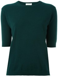 Ballantyne Short Sleeve Jumper Green