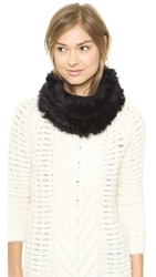 Hat Attack Knit And Rabbit Loop Scarf Black