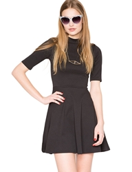 Pixie Market Pixie Mock Neck Dress