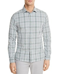 Bloomingdale's The Men's Store At Plaid Long Sleeve Button Down Shirt 100 Exclusive Green