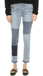 Free People Patched And Relaxed Skinny Jeans Camp