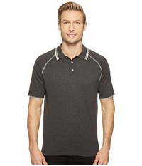 Agave Watson 100 Supima Short Sleeve Polo W Tipping Charcoal Men's Clothing Gray
