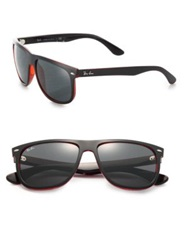 Ray Ban Flat Top Boyfriend Sunglasses Tortoise Red Blue