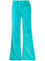 Marc Jacobs Corduroy Flared Trousers Blue
