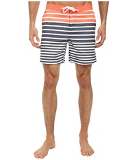 Original Penguin 3 Color Engineered Stripe Volley Swim Turbulance Men's Swimwear Gold
