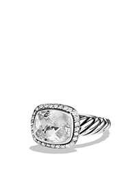David Yurman Noblesse Ring With White Topaz And Diamonds Silver