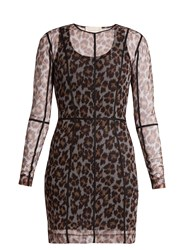 Christopher Kane Leopard Print Mesh Dress Animal