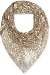 Paco Rabanne Crystal Embellished Chainmail Scarf Gold