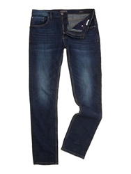 Casual Friday Medium Wash Low Rise Jeans Navy