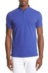 The Kooples Men's Contrast Officer Collar Polo Navy