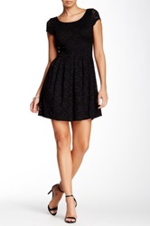 Necessary Objects Cap Sleeve Lace Dress Black