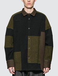 Ambush Fleece Patchwork Shirt Green