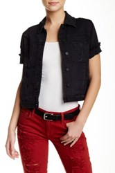 Genetic Denim Blondie Short Sleeve Denim Jacket Black