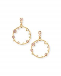 Oscar De La Renta Circular Crystal Drop Earrings