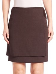 Akris Masai Band Layered Wool Skirt Date