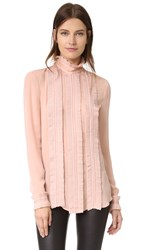 Nicholas Fine Pleat Blouse Blush