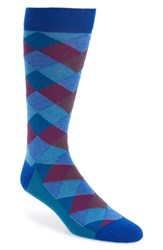 Ted Baker London Shiftie Argyle Socks Blue